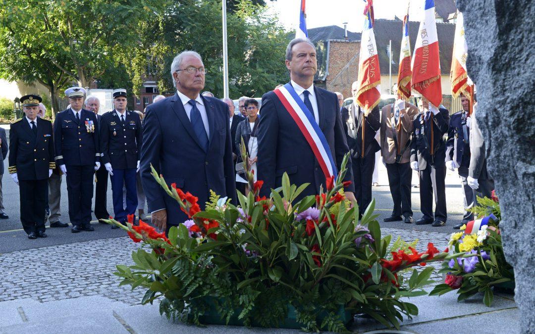 73e anniversaire de la libération de la ville d'Evreux et annonce de la construction d'une statue du Général