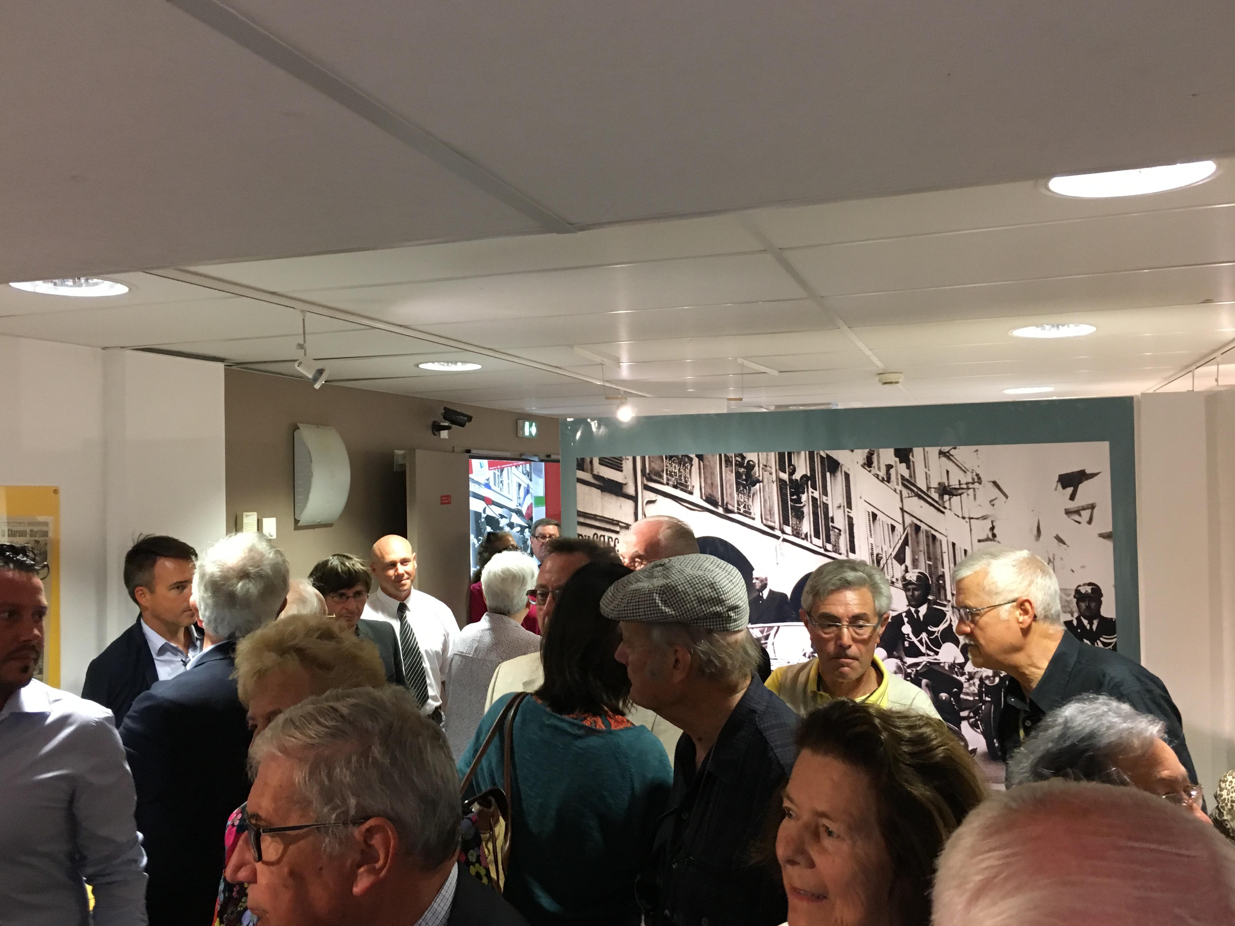 """Inauguration exposition """"Les voyages du général de Gaulle en Charente-Maritime"""" 1"""
