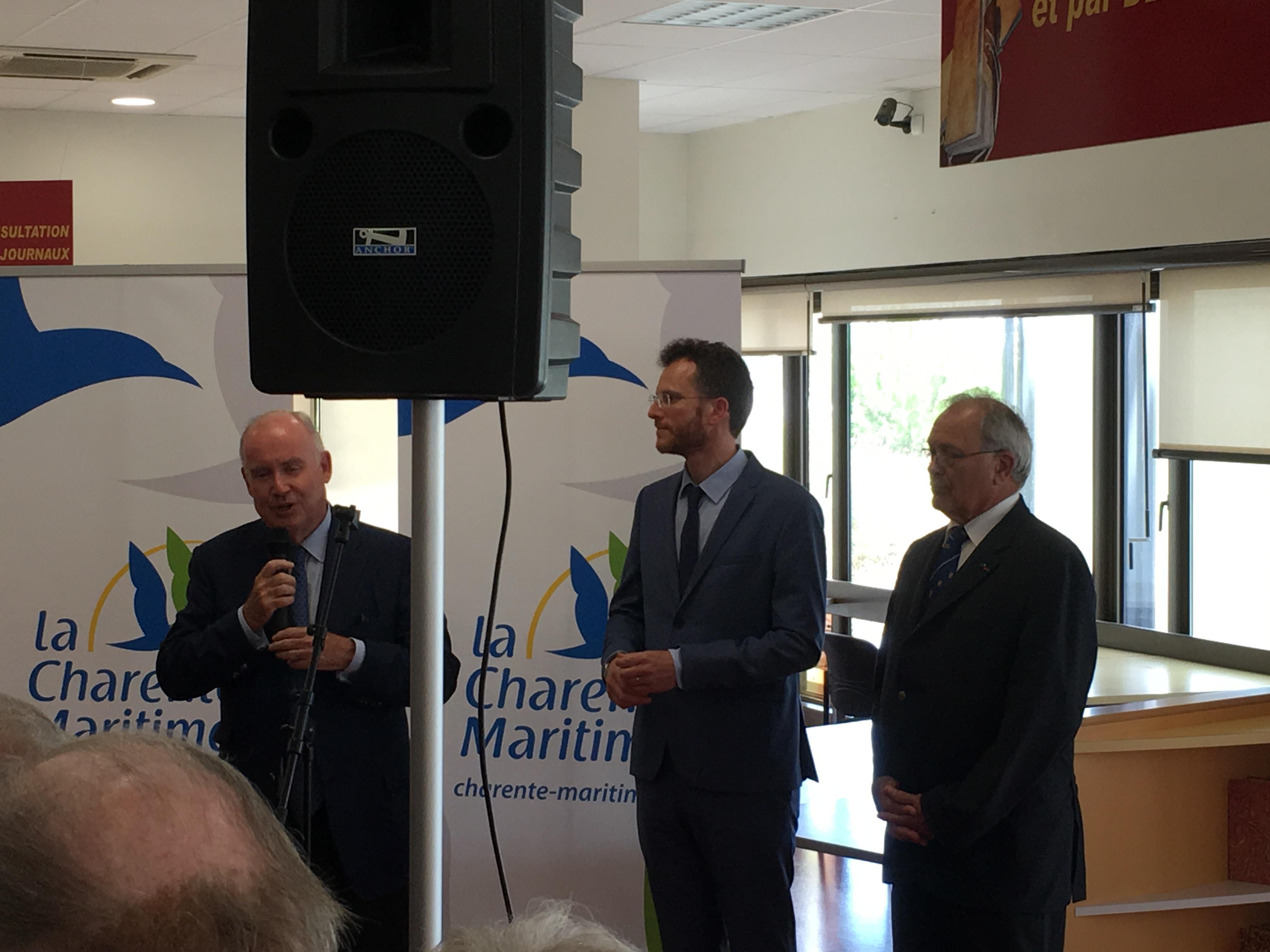 """Inauguration exposition """"Les voyages du général de Gaulle en Charente-Maritime"""" 2"""