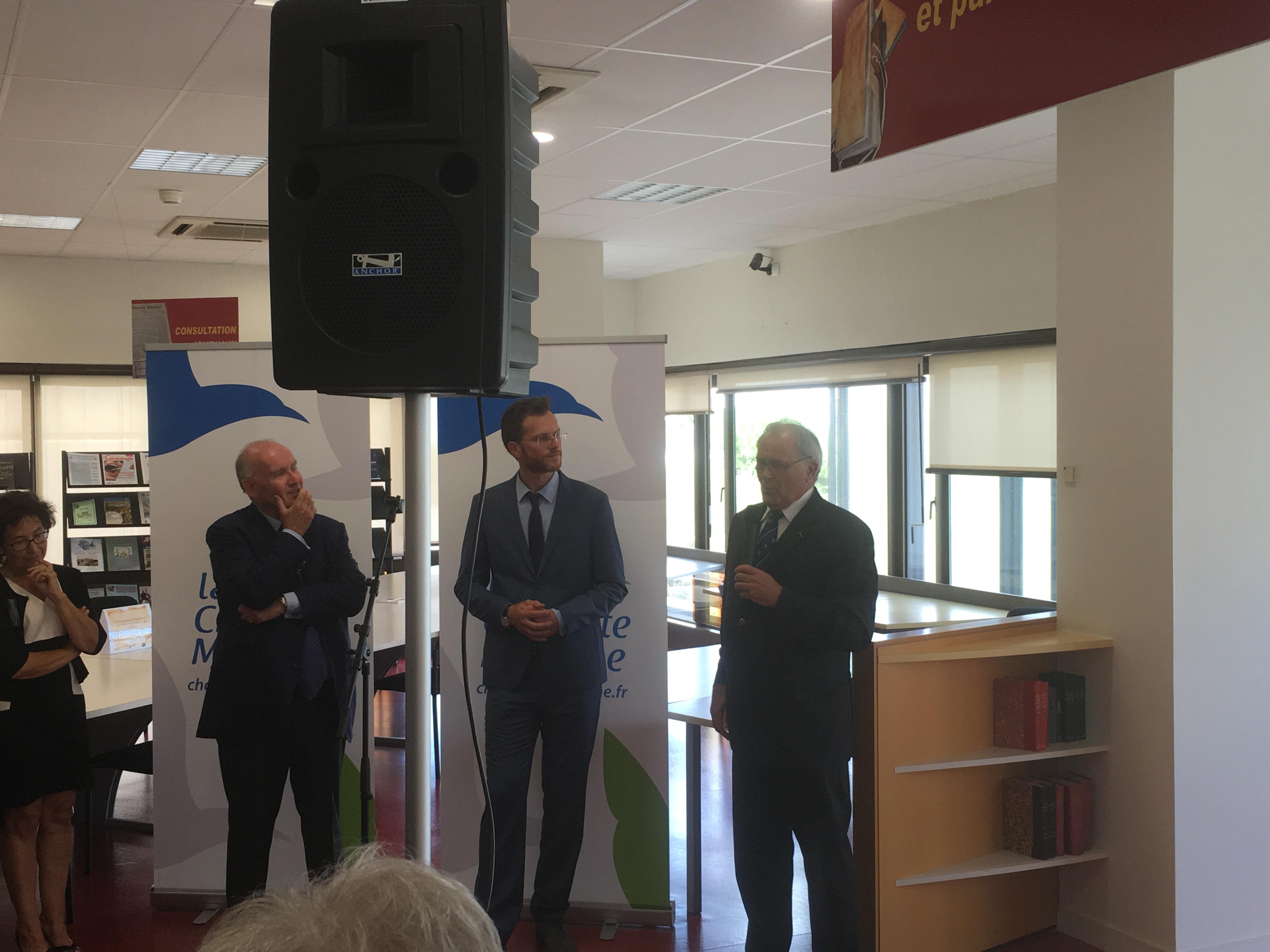 """Inauguration exposition """"Les voyages du général de Gaulle en Charente-Maritime"""" 4"""
