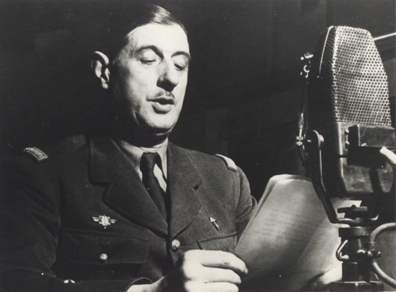 Le général de Gaulle au micro de la BBC, octobre 1941