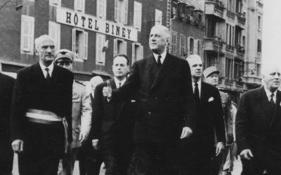 Conférence «Le général de Gaulle et les régions françaises (1947-1961), l'Aveyron pour exemple» avec Jacques Godfrain et Frédéric Faure, à Conques