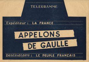 Télégramme d'appel au général de Gaulle, mai 1958