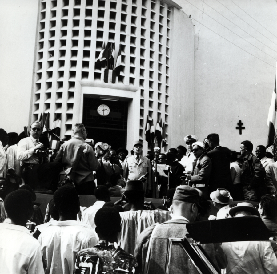 Discours du général de Gaulle à Brazzaville sur le projet de Communauté