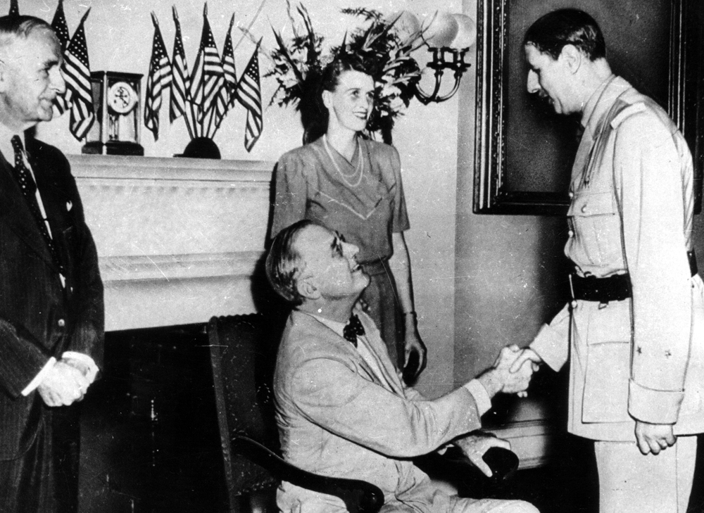 De Gaulle et Roosevelt
