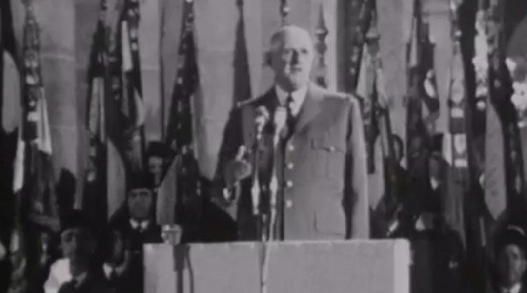 Discours du général de Gaulle aux Invalides pour le cinquantenaire de l'armistice 1914-18