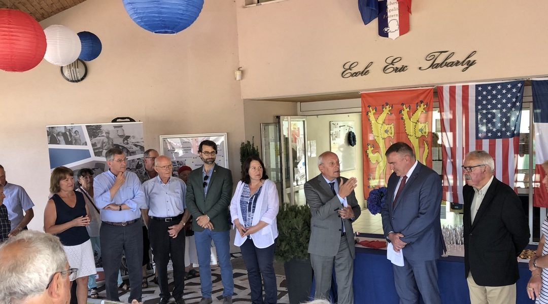 Inauguration de l'exposition «Eisenhower – De Gaulle» à Jullouville