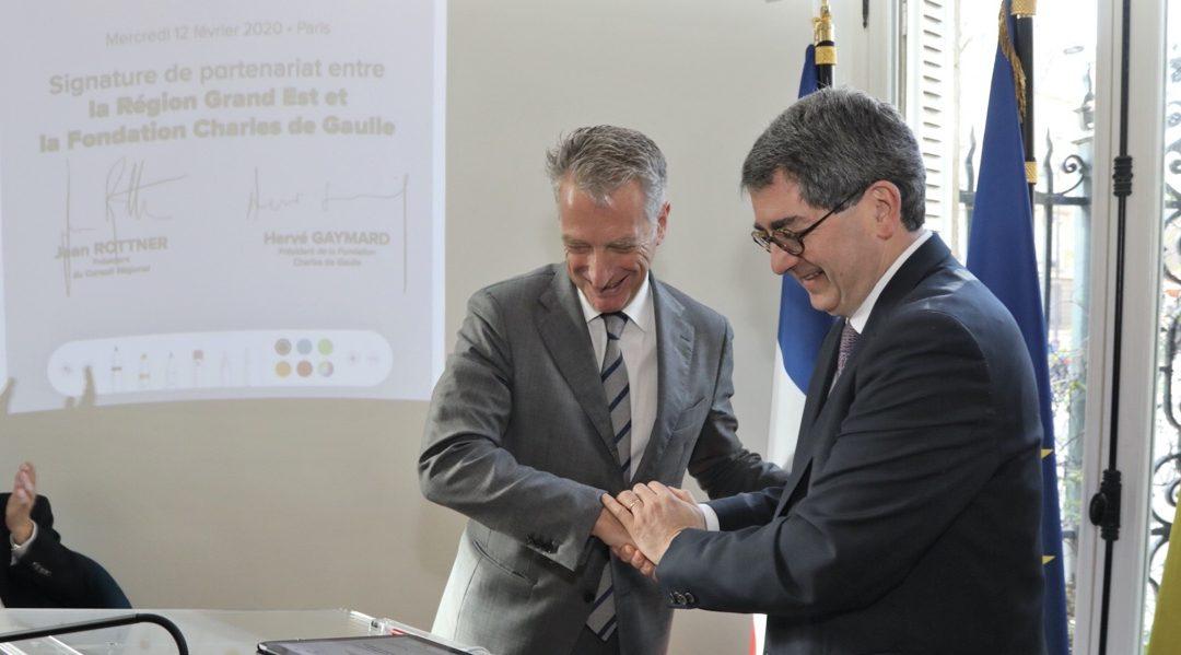 Signature du partenariat «De Gaulle 2020» avec la Région Grand Est