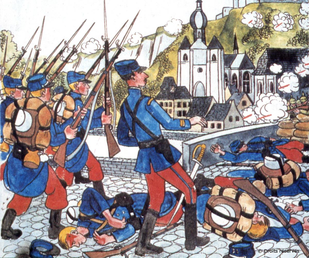 15/08/1914 : Baptême du feu à Dinant pour le lieutenant de Gaulle