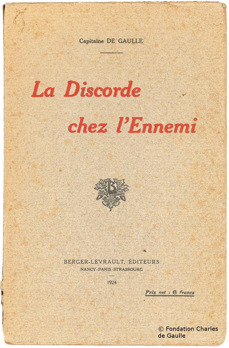 1924 : Parution de «La Discorde chez l'ennemi»