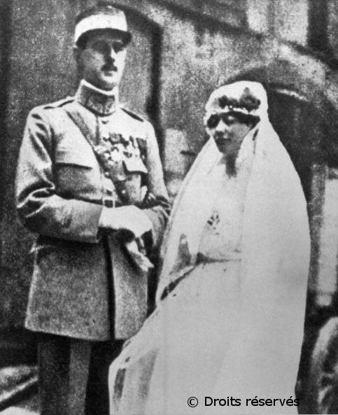 06/04/1921 : Mariage avec Yvonne Vendroux