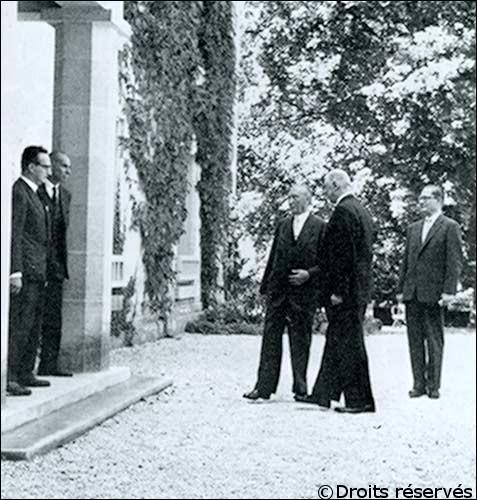 14/09/1958 : Adenauer en visite à La Boisserie