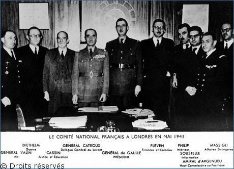 03/10/1943 : de Gaulle, seul président du CFLN