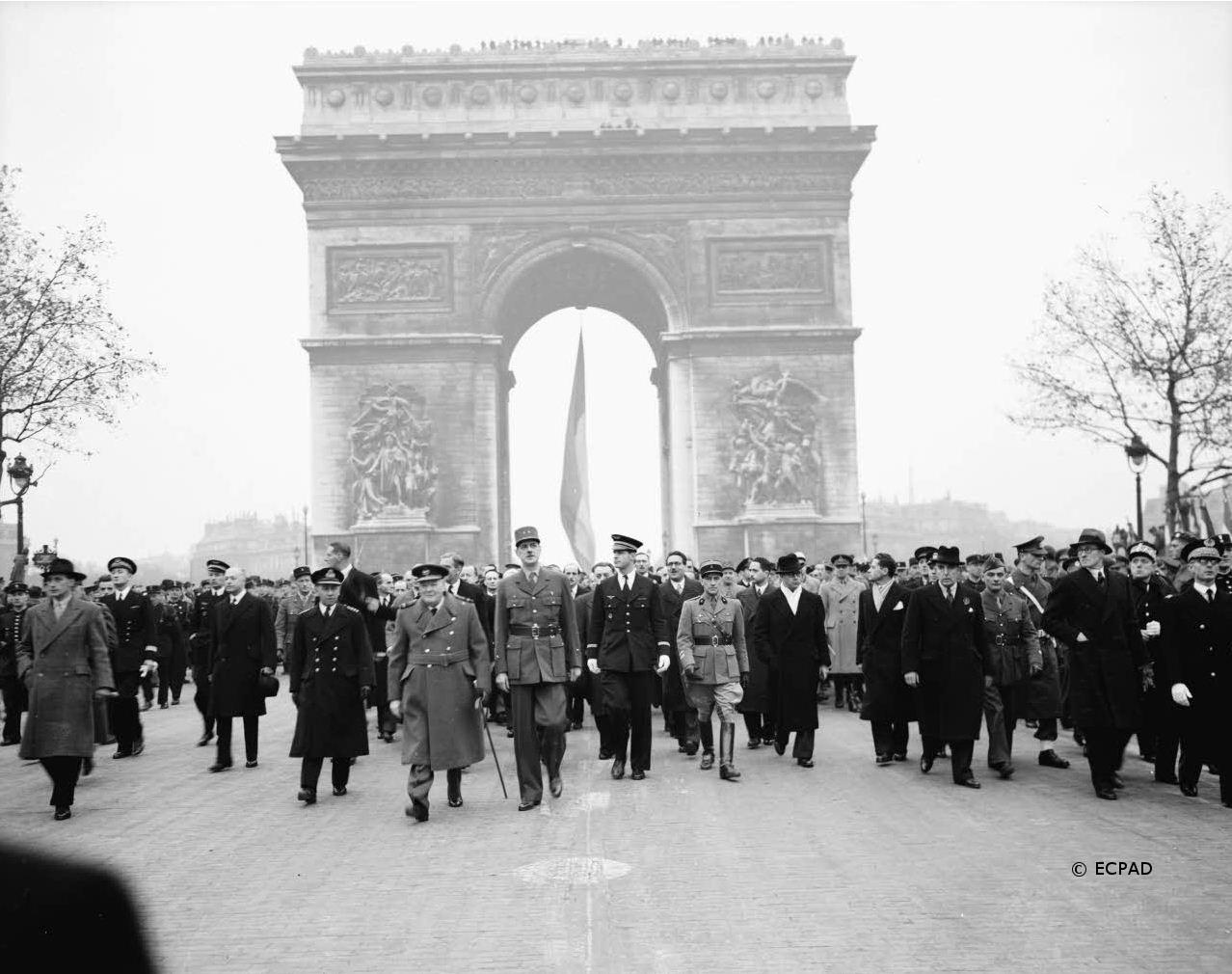 10-13/11/1944 : Winston Churchill reçu à Paris et sur le front de Lorraine