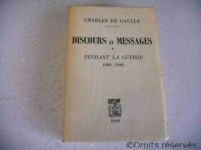 21/04/1970 : Publication de Discours et Messages 1940-1946