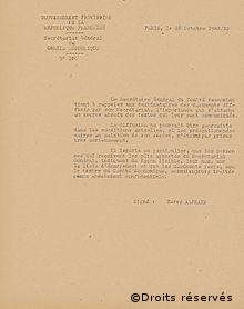 23/10/1944 : Reconnaissance officielle du GPRF par les Alliés