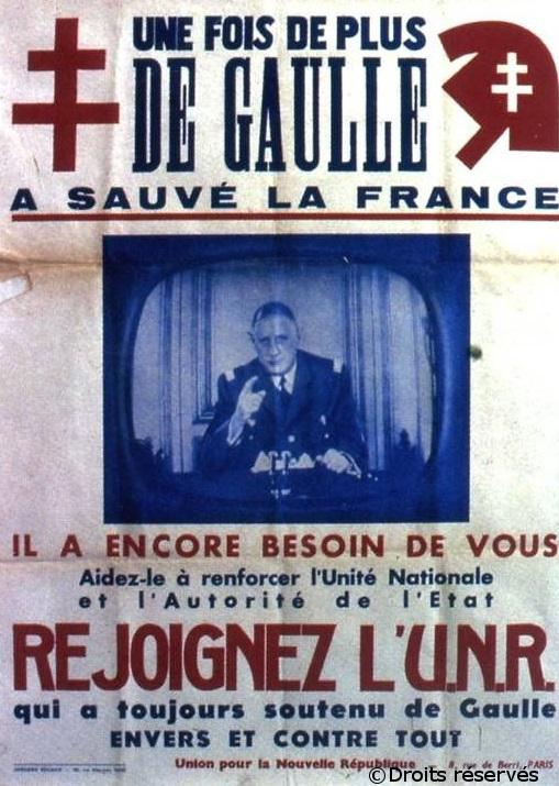 03/10/1958 : Création de l'Union pour la Nouvelle République (UNR)