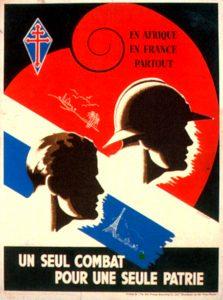 Affiche des Forces françaises libres dessinées, 1944