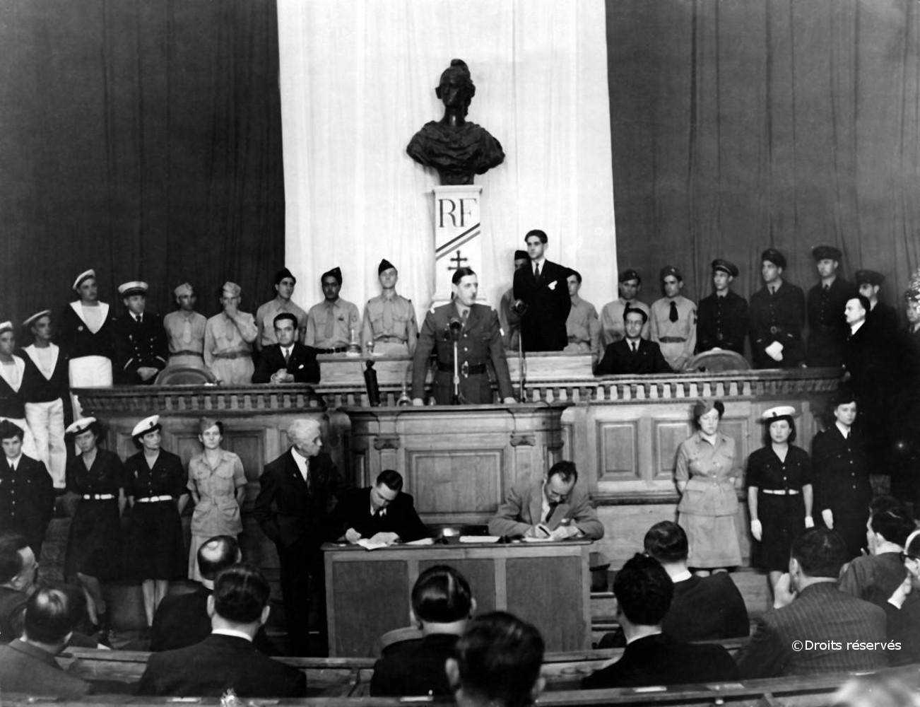 18/06-26/06/1944 : Discours devant l'Assemblée consultative provisoire d'Alger