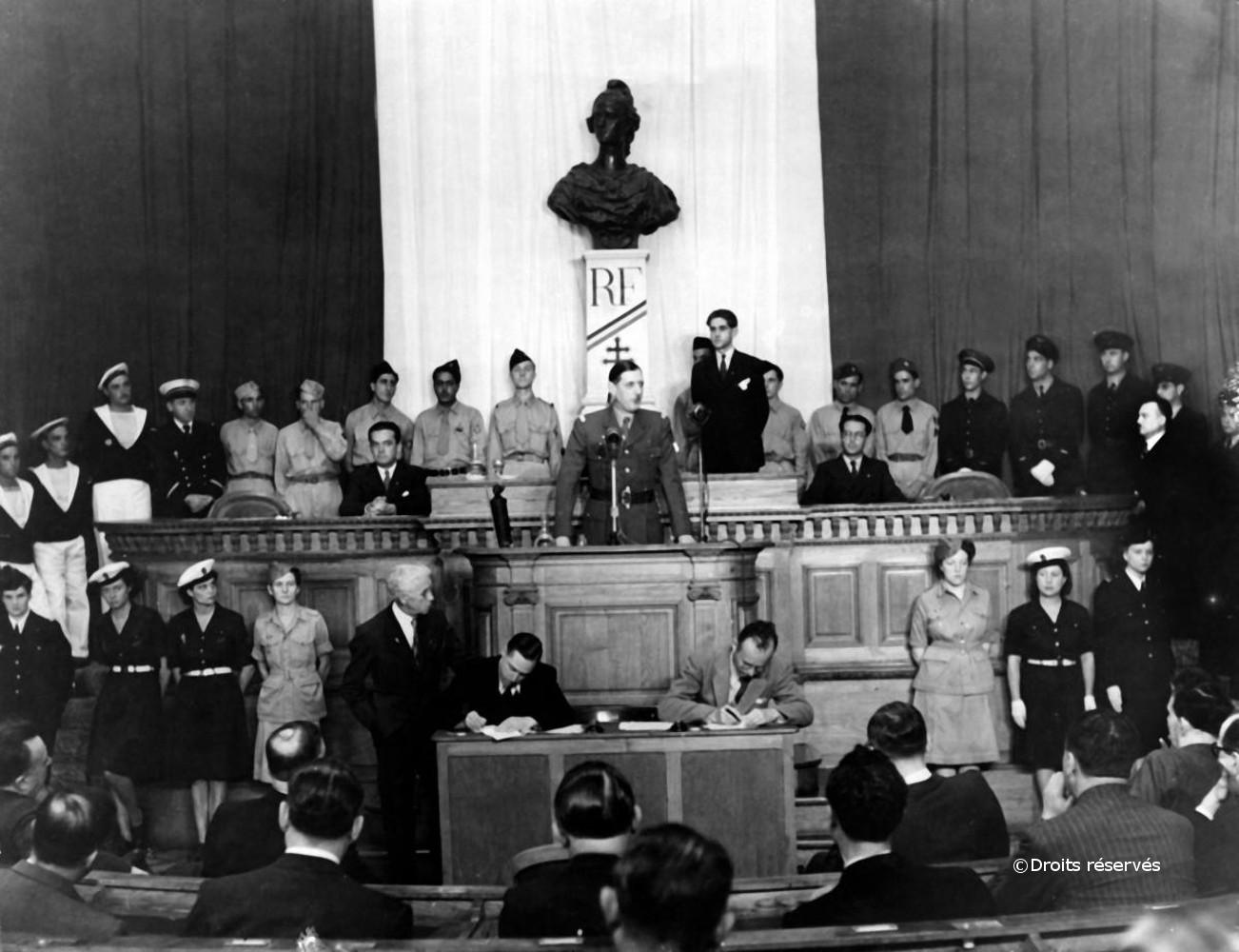 17/09/1943 : Mise en place de l'Assemblée consultative provisoire d'Alger