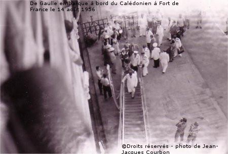 08/08-18/09/1956 : Voyage du général de Gaulle aux Antilles et en Polynésie française
