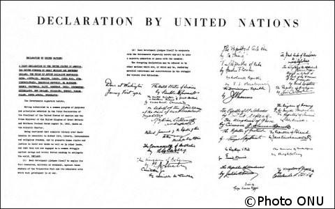 02/01/1942 : La France Libre adhère à la déclaration des Nations Unies