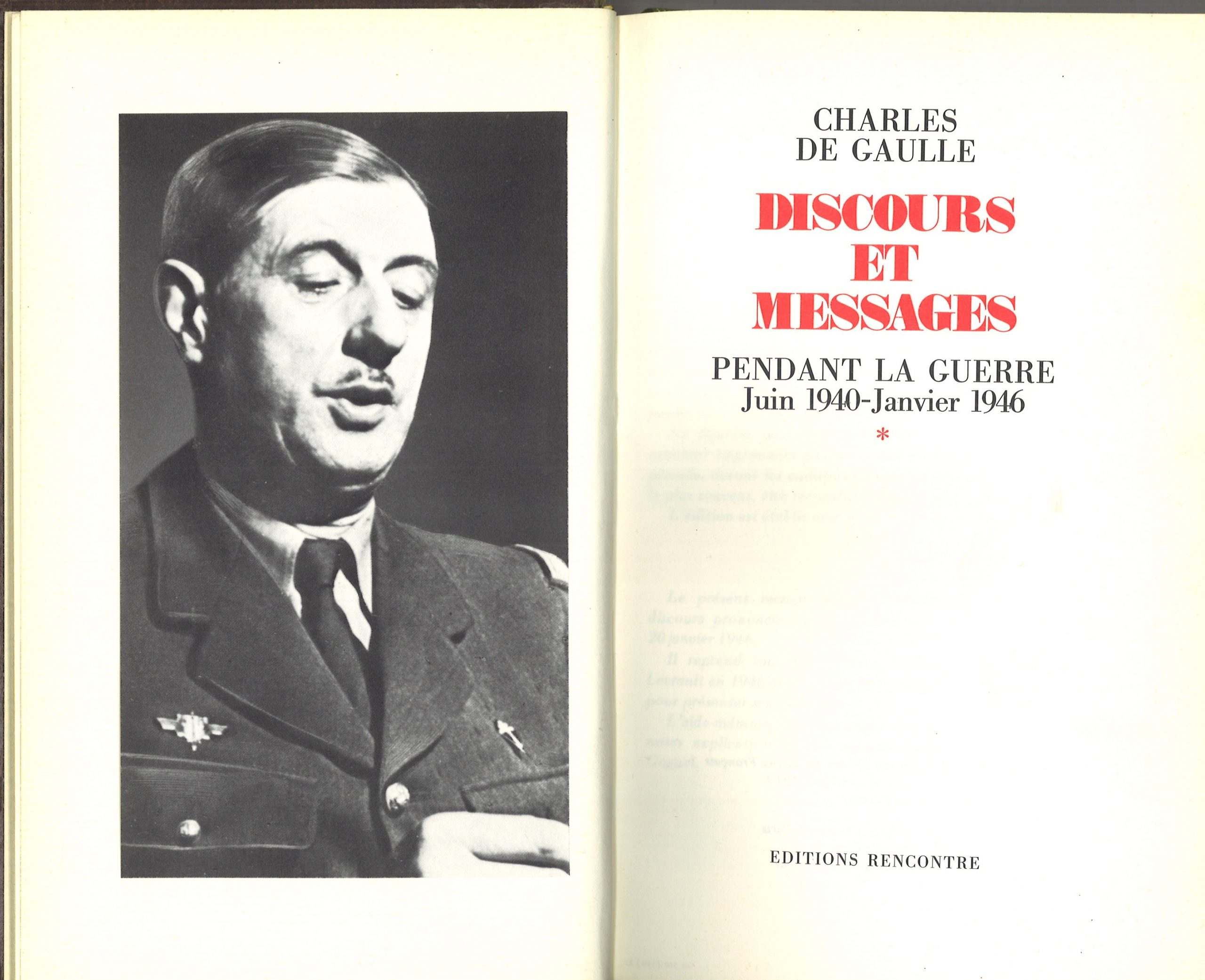 1970 : Discours et Messages – 5 volumes