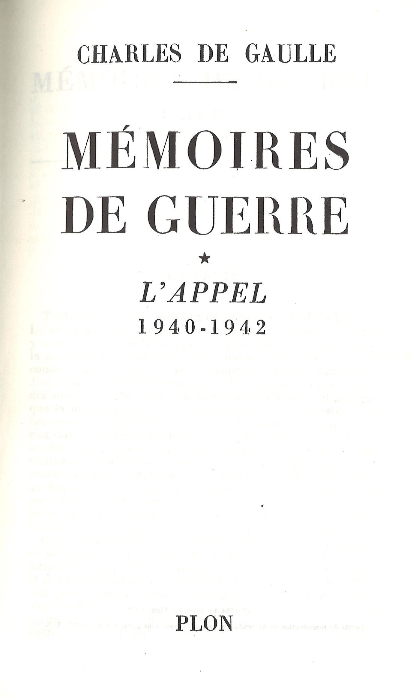 1954 : Mémoires de guerre – Tome 1