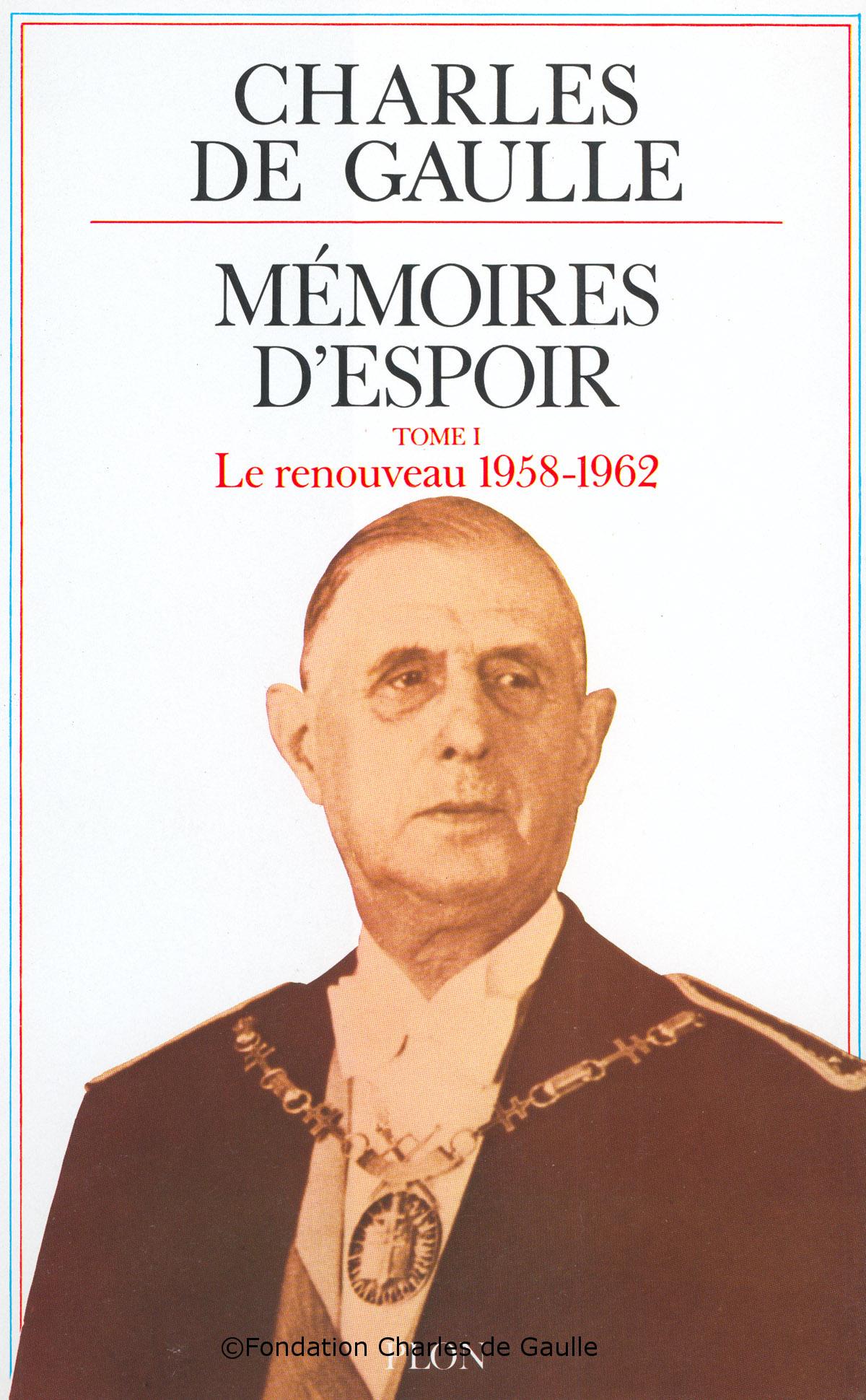 """23/10/1970 : Parution du 1er tome des """"Mémoires d'Espoir"""""""