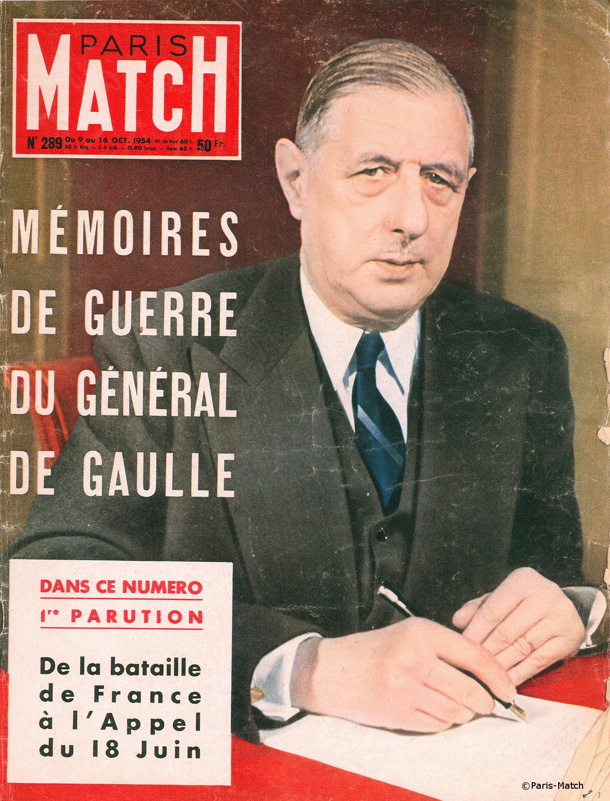 """1954 : Parution du premier tome des Mémoires de guerre """"L'Appel (1940-1942)"""""""