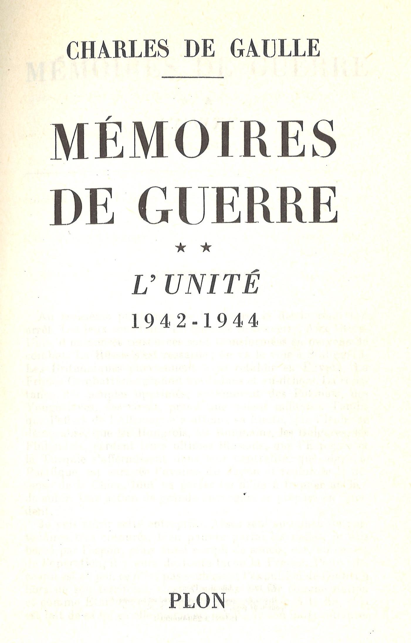 1956 : Mémoires de guerre – Tome 2