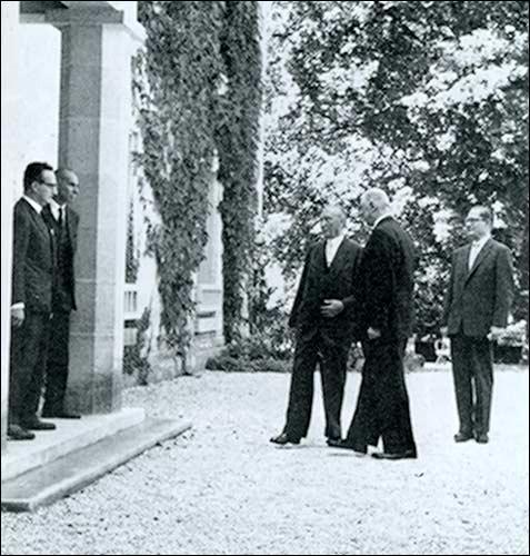 Visite du chancelier Adenauer à La Boisserie, 15 septembre 1958