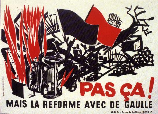Affiche éditée lors des élections législatives, juin 1968