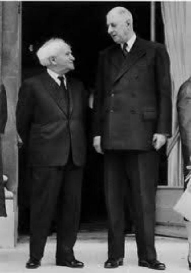 Rencontre entre le général de Gaulle et David Ben Gourion à l'Élysée, 13 juin 1960