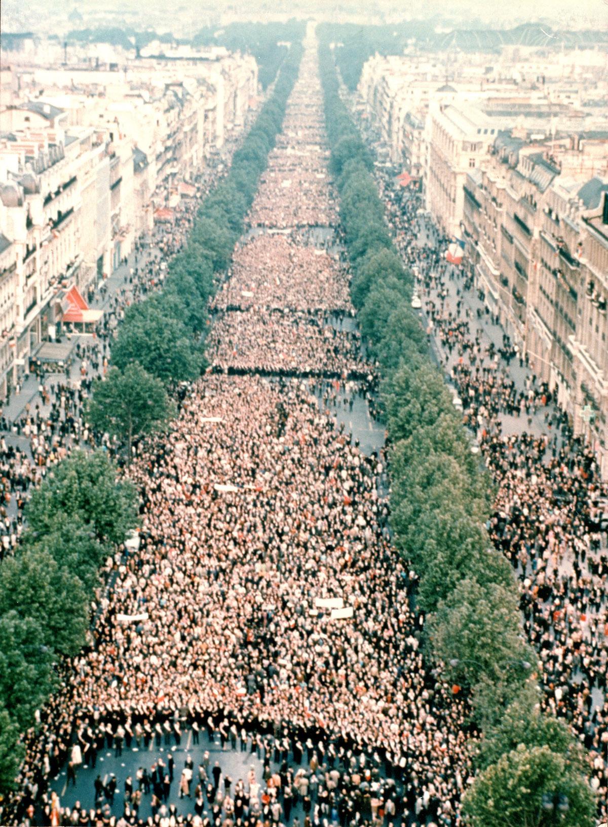 Manifestation de soutien au général de Gaulle, 30 mai 1968