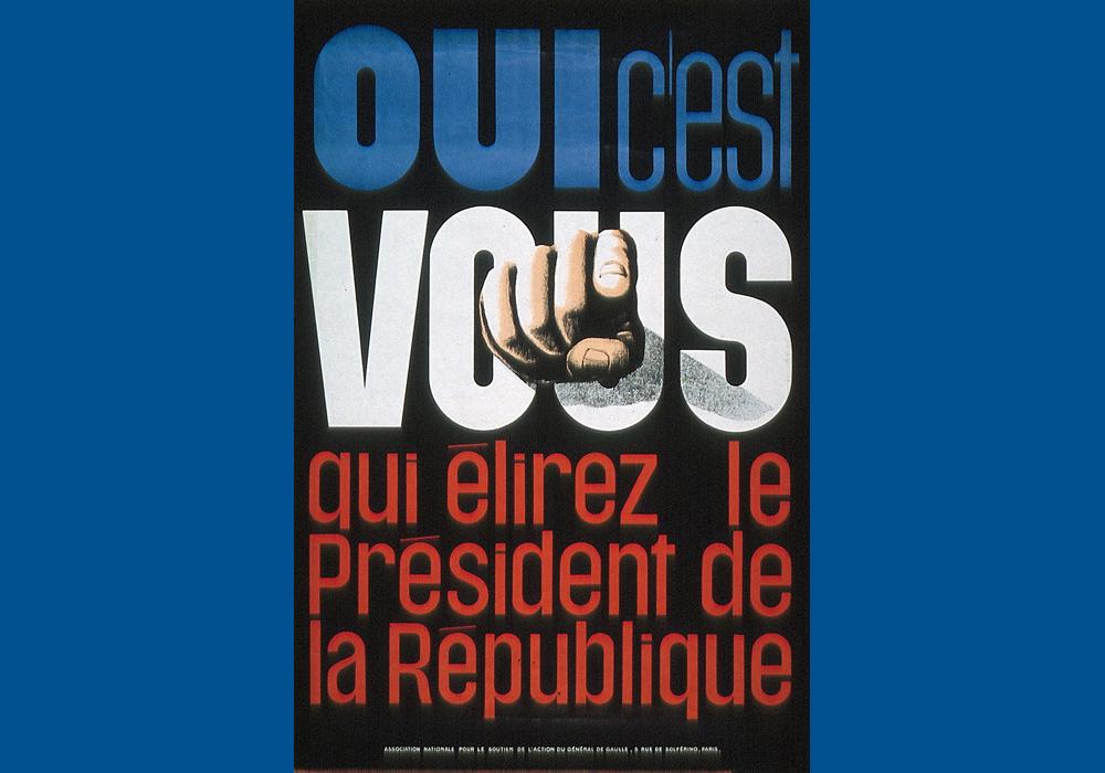 Affiche émise lors de la campagne référendaire de 1962