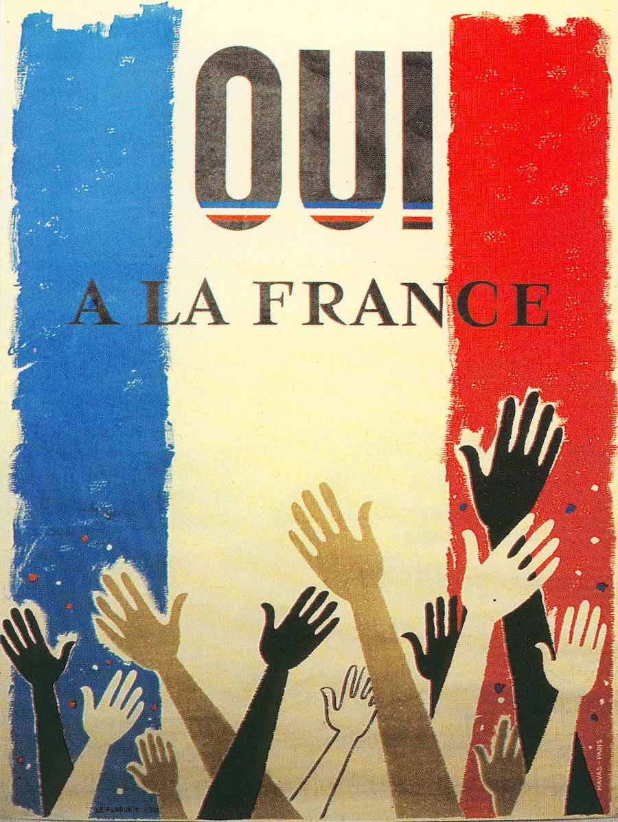 Affiche de campagne pour le référendum du 28 septembre 1958