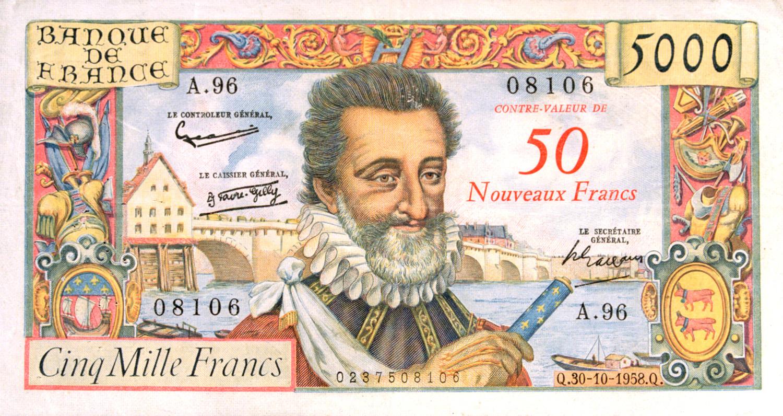 Billet de 5 000 anciens francs