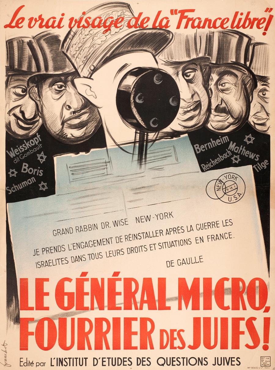 Le Général microFranchot, « Le Général micro, fourrier des juifs », 1940