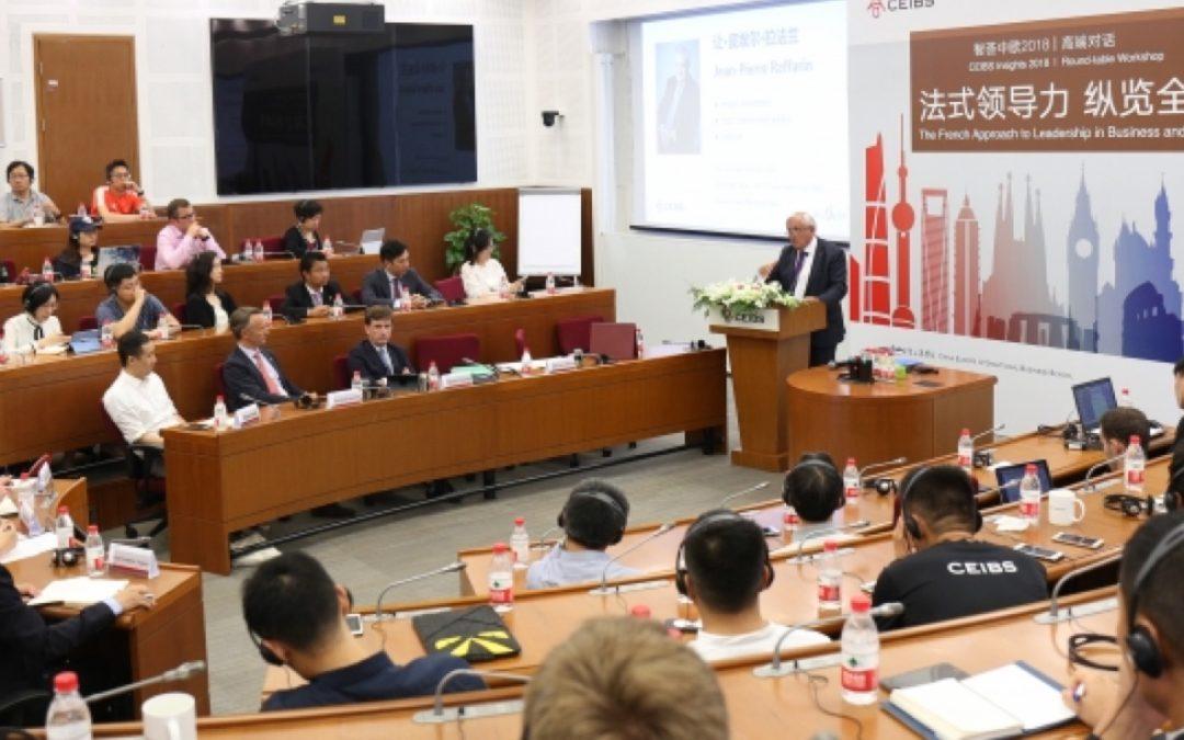 Conférence de Jean-Pierre Raffarin à Shanghai – Chaire «Charles de Gaulle – Leadership global»