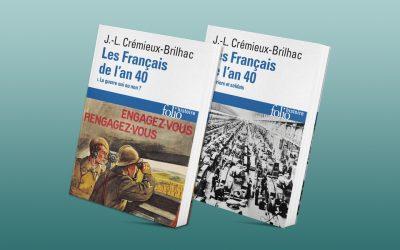 Réédition des ouvrages «Les Français de l'an 40» de Jean-Louis Crémieux-Brilhac