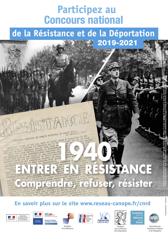 Édition 2020 2021 du Concours National de la Résistance et de la