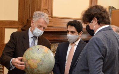 Visite du fils du Commandant Massoud à la Fondation Charles de Gaulle