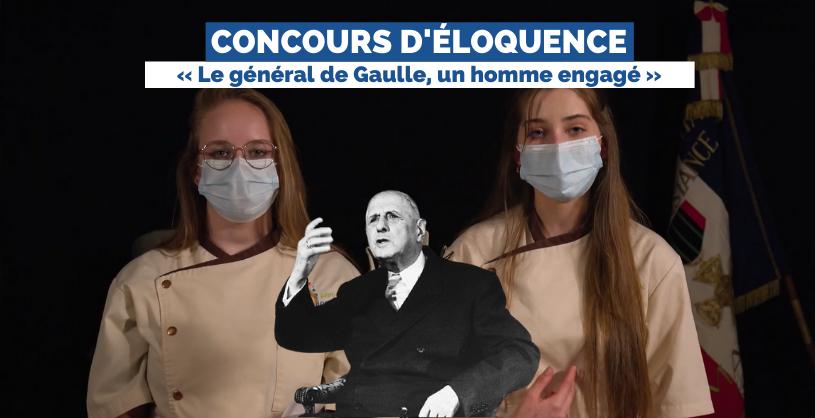 Concours d'éloquence 2021 «De Gaulle, un homme engagé» avec la Région Grand Est